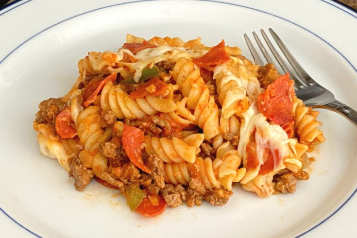 featured easy pizza casserole