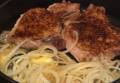 one skillet pork chops