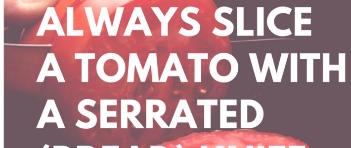 how to cut a tomato