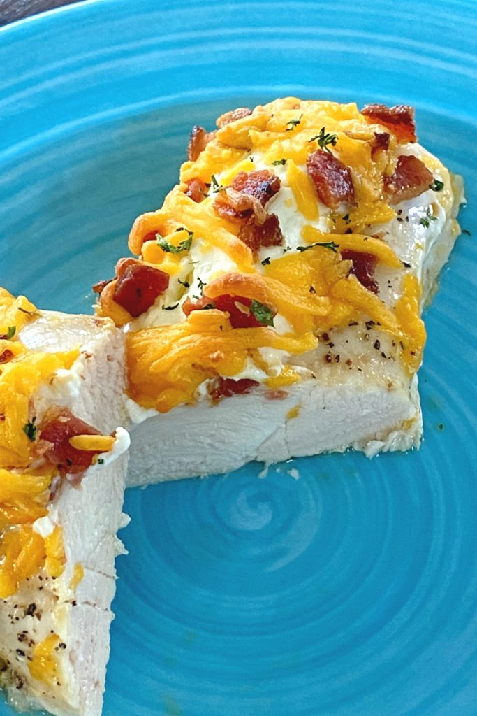 cheese and bacon baked chicken