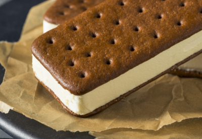 homemade ice cream sandwich
