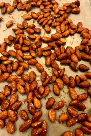 egg free candied almonds