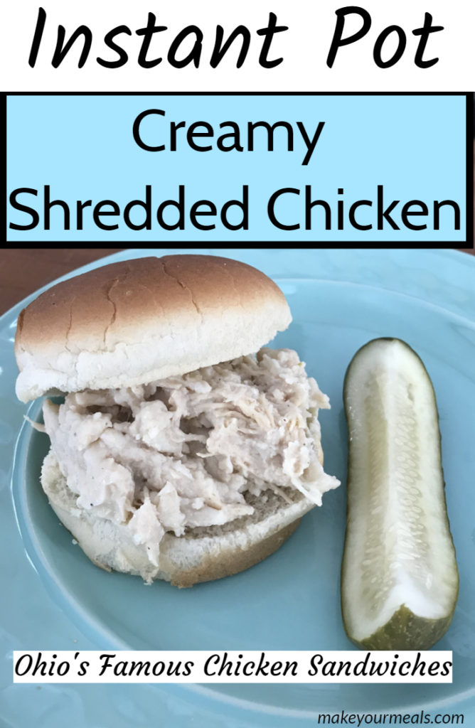 instant pot creamy shredded chicken