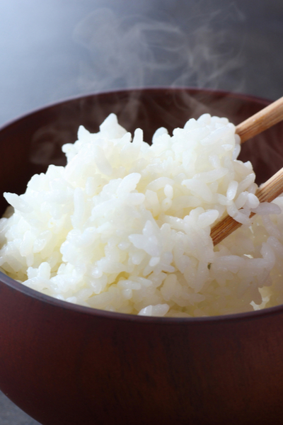 a bowl of cooked rice