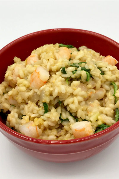 shrimp and arugula risotto