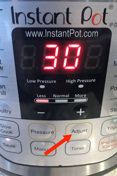Instant Pot Adjust Button