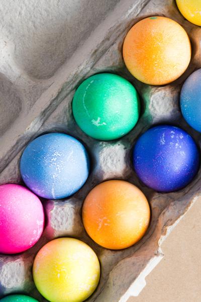 carton of easter eggs