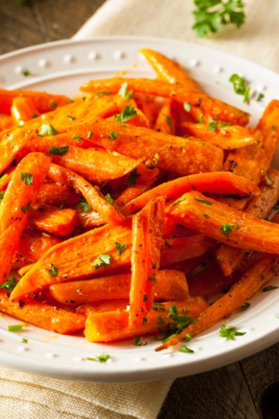 oven roasted honey glazed carrots