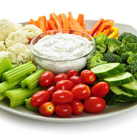 homemade vegetable dip