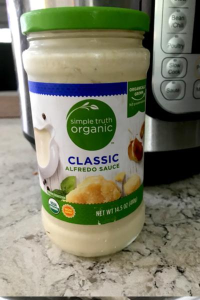 jar of alfredo sauce