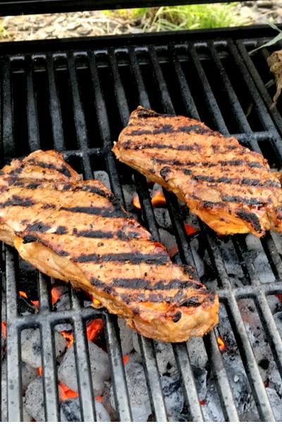 Charred steaks