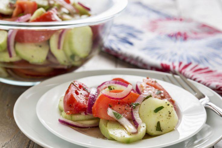 Cucumber, Onion and Tomato Salad