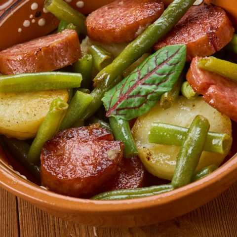 Instant Pot Green Beans, Potatoes, and Sausage