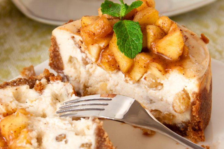 Instant Pot Caramel Apple Cheesecake