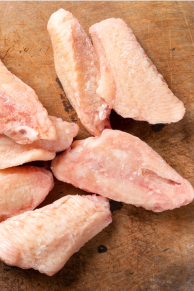 frozen chicken wings