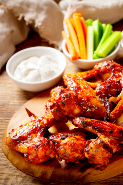 wings with celery and ranch