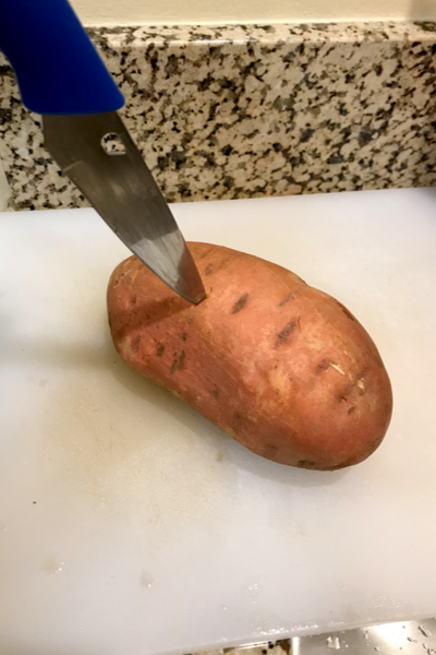 pierced sweet potato
