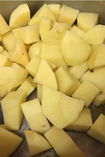 diced potatoes for Instant Pot Mashed Potatoes