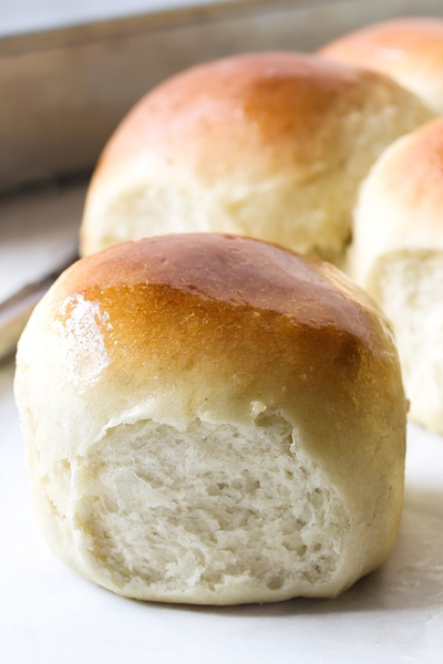 no knead dinner rolls