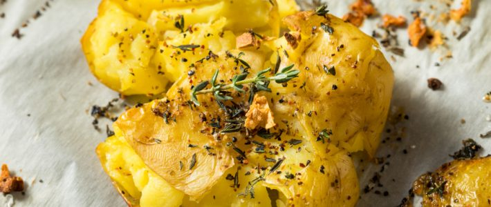Garlic Butter Smashed Potatoes Recipe