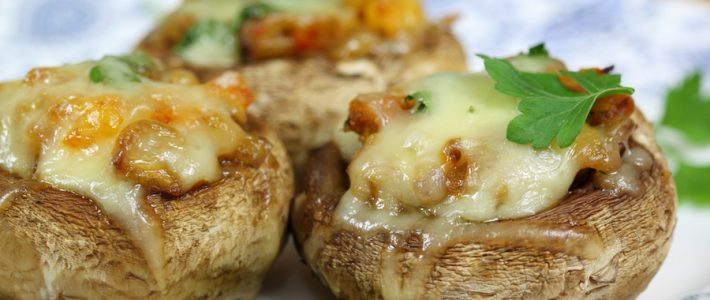 Sausage and Cheese Stuffed Mushrooms