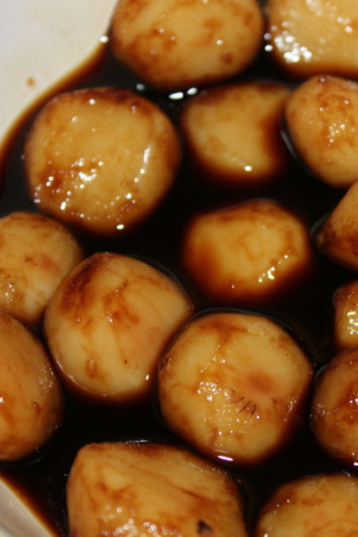 soy soaked water chestnuts