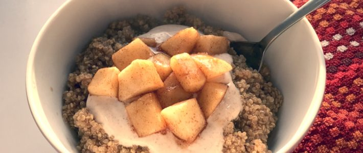 Cinnamon Apple Quinoa Breakfast Bowl