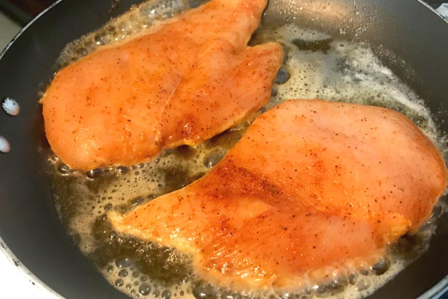 chicken breast cooking