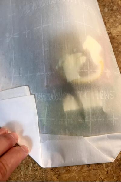 Parchment paper fold