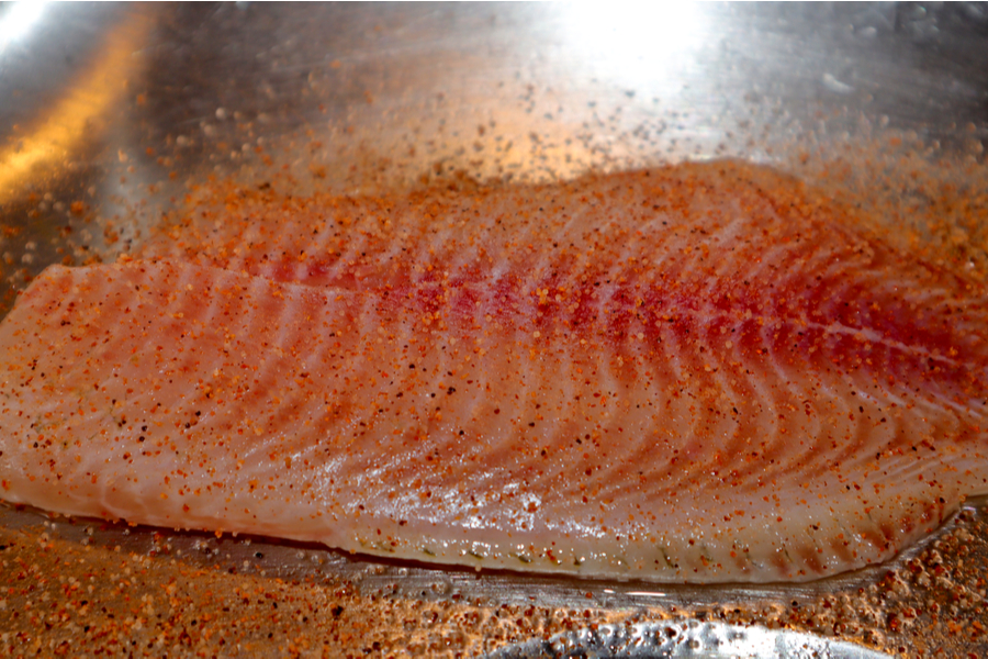 seasoned air fryer tilapia