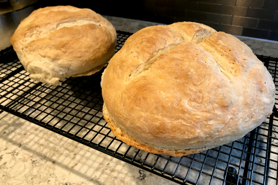 bread on cooling rack