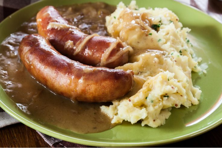 instant pot bangers and mash
