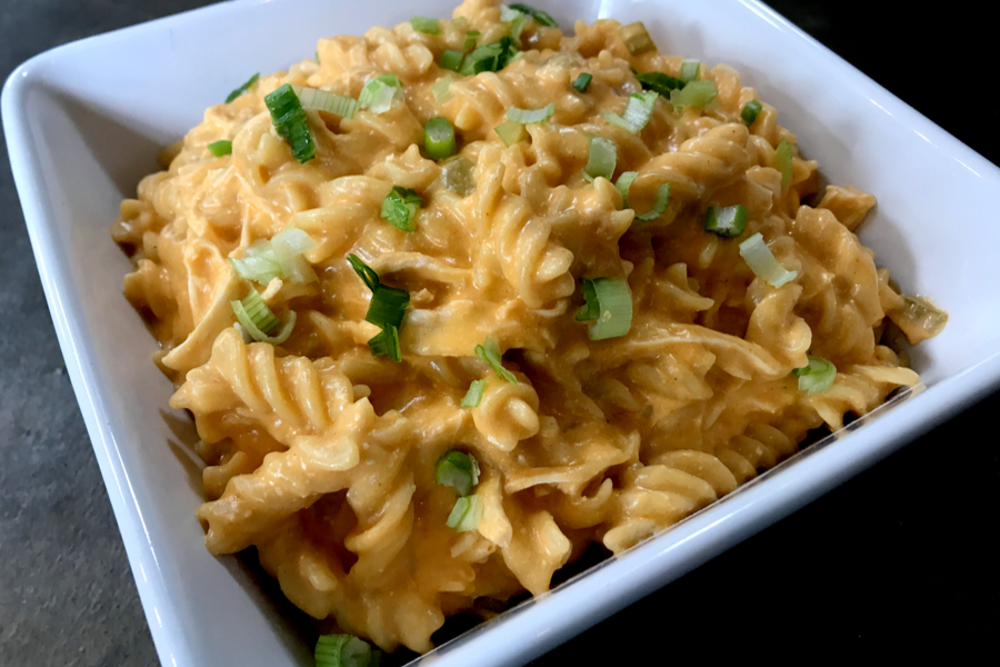 instant pot buffalo chicken pasta