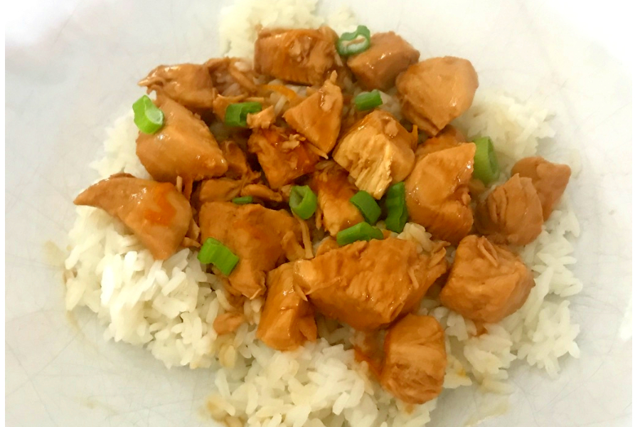 instant pot orange chicken over rice
