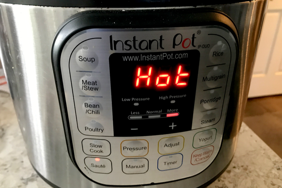 Instant Pot HOT display