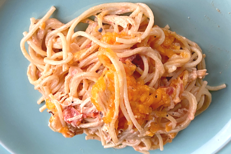 featured chicken spaghetti casserole