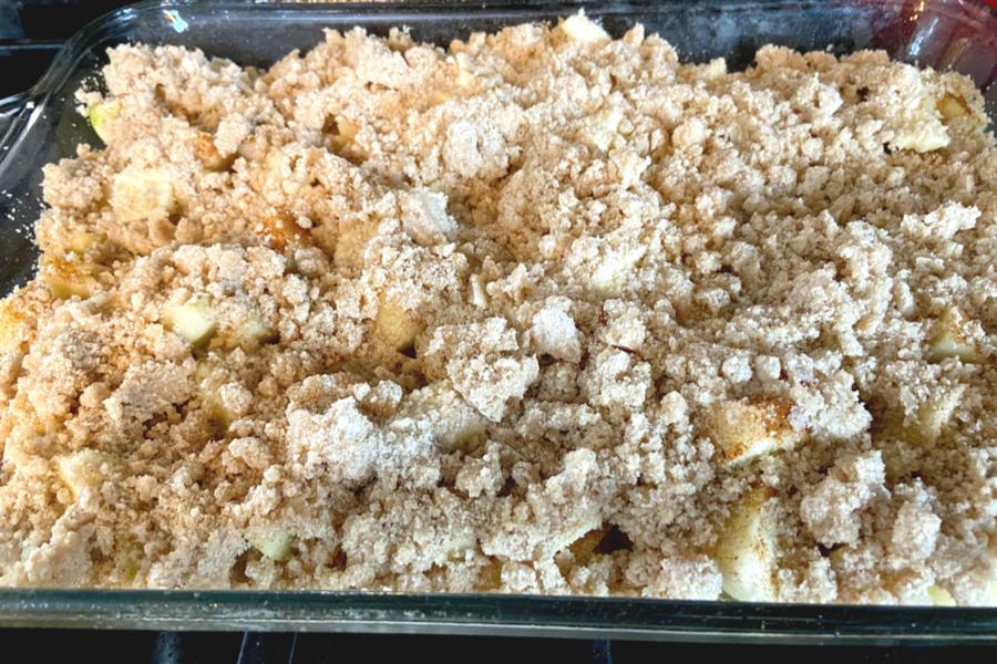 grandma's apple crisp topping
