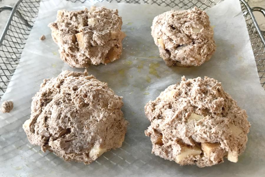 air fryer apple fritter dough