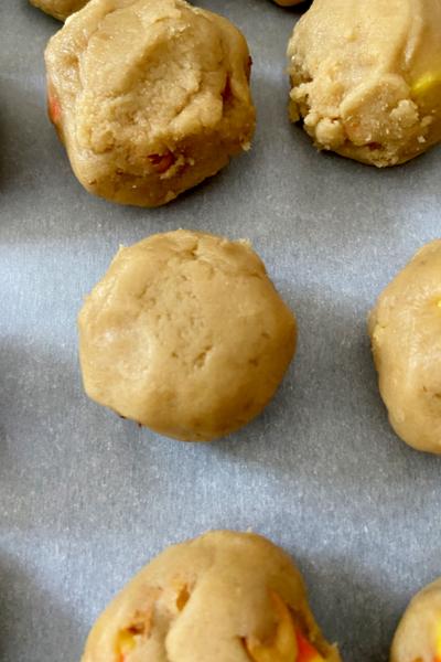 bottom of cookie dough