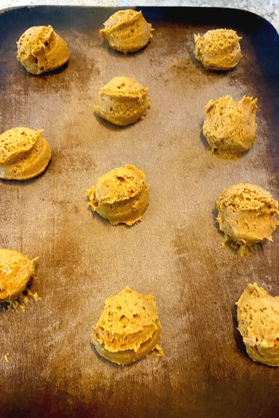 mounds of dough