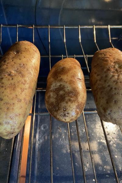 fresh baked potatoes
