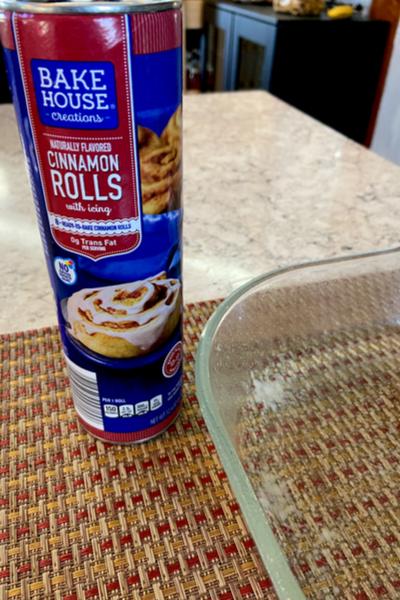 tube of cinnamon rolls