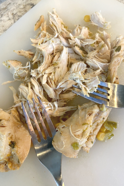 shredded chicken for white chicken chili