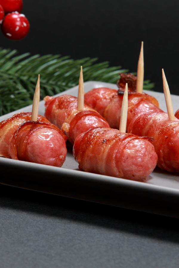 candied bacon wrapped smokies