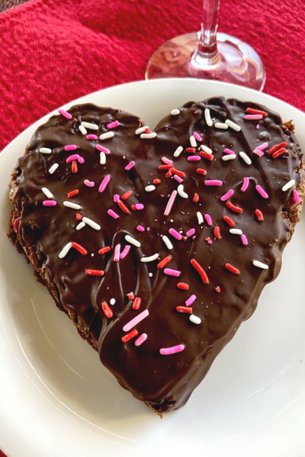 Valentine's Day chocolate chip brownies