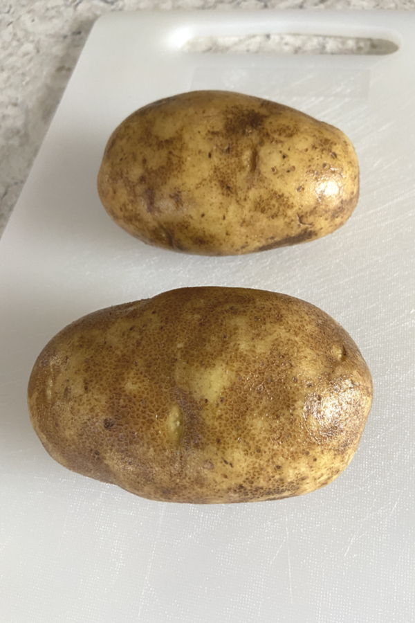 russet potatoes cleaned
