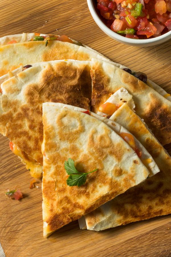 Air Fryer Vegetarian Quesadillas