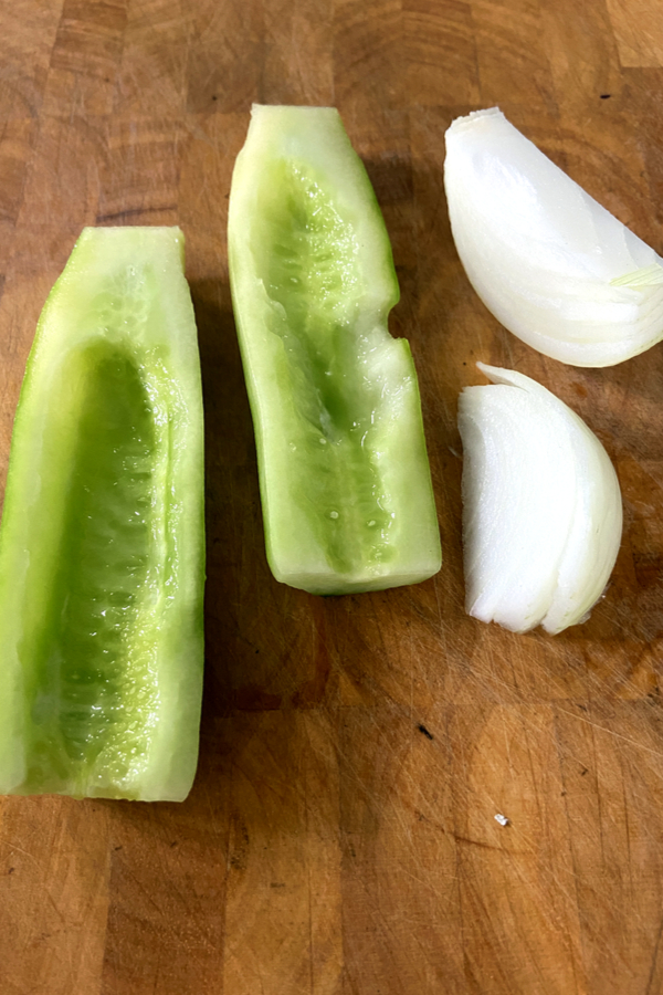cucumber and onion