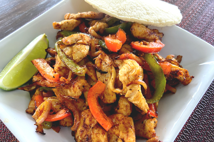 air-fryer-chicken-fajitas