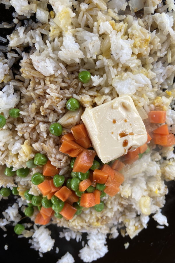 butter and veggies with rice